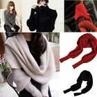Unisex Winter Warmer Knitting Wool Long Soft Scarf Shawl Scarve with Sleeve Wrap