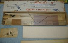 """1946 Berkeley - The Musketeer 42"""" Balsa Plane for Gas Powered .15 to .19 Engines"""