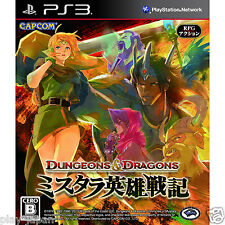 Used PS3 Dungeons & Dragons Over Mystara Hero Over Senki Japan import