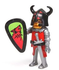 Playmobil Figure Custom Castle Barbarian Knight Helmet Wolf Shield Sword 4440