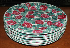 """6 Cooks Club Briarcliff 8 1/4"""" Rose plates MINT!"""
