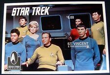 1996 ST. VINCENT STAR TREK SOUVENIR SHEET - SPOCK - WILLIAM SHATNER - NIMOY