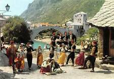 Croatia Mostar Dancers Traditional Costumes Bridge Pont