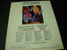 CHICK COREA & HERBIE HANCOCK June 2 - July 1, 1988 Tour Dates PROMO POSTER AD