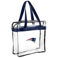 NFL New England Patriots Clear zipper Massenger Bag Stadium Approved