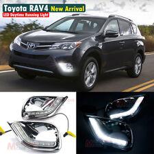 New LED Daytime Running Light For Toyota RAV4 RAV 4 Fog Lamp DRL 2013 2014 13 14