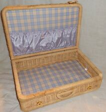 American Girl Bitty Baby Wicker Suitcase Basket Luggage