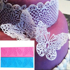 Art Butterfly Silicone Mould Lace Mat Fondant Sugar Mold for Cake Decoration