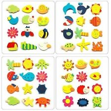 Fridge Magnet Wooden Cartoon Animals Novelty Cute Fun Colourful Childrens Gift