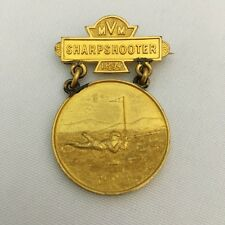 Gilt Bronze Sharpshooter Medal Massachusetts Volunteer Militia Circa 1894