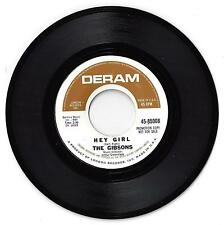 THE GIBSONS - HEY GIRL b/w THE MAGIC BOOK - 45 RPM in ExC (1967)