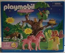 Playmobil Fairy Princess 5762 Magical Forest NIB Spooky Tree Pink Unicorn Baby