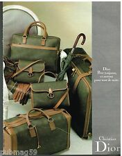Publicité Advertising 1988 Maroquinerie sac à main bagages Christian Dior