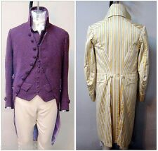 Men's Late Georgian Coat 1795-1810 size 34-56 Laughing Moon Costume Pattern 124
