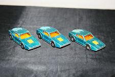 Konvolut 3 alte Matchbox Lesney 1-75 Superfast Saab Sonett No. 65 Modellauto Lot