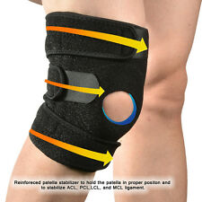 Sports Knee Brace Adjustable Wraparound Open Patella Support Band Neoprene Wrap