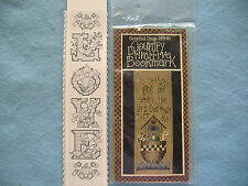 VINTAGE BUCILLA COUNTED CROSS STITCH BOOKMARK KITS-2-LOVE-COUNTRY PRIMITIVE