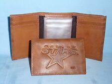 DALLAS STARS   Leather TriFold Wallet   NEW!  br2 n