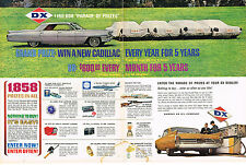 Vintage 1961 2-Page Magazine Ad Sunray DX Oil Grand Prize Win a New Cadillac
