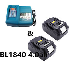 2 packs Makita BL1840 18V Li-ion 4.0Ah Battery and DC18RC Charger DC18RA HOT SEL