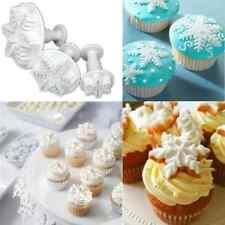 3pcs Snowflake Fondant Cake Chocolate Sugarcraft Mold Cutter Silicone Tools DIY