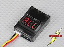 Cell Checker 2s - 8s 3.7v - 29.6v Lipo with Low Voltage Alarm Buzzer - UK Seller