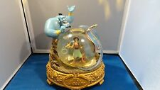 "DISNEY ALADDIN MUSICAL SNOWGLOBE ""FRIEND LIKE ME"" **FREE SHIPPING"