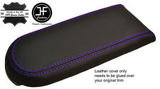PURPLE STITCH REAL LEATHER ARMREST LID COVER FOR VW GOLF MK4 JETTA GTI 1998-2005