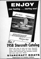 1958 Print Ad Starcraft Boats for 1958 Goshen,IN