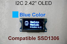 I2C 2.42 128x64 Graphic OLED Blue Module ( Arduino / PIC / Multi-wii) with Hole
