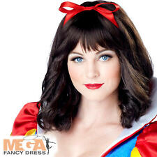 Snow White Wig Ladies Fancy Dress Fairytale Book Womens Adult Costume Wig