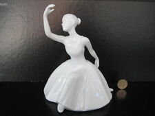 ROYAL DOULTON THE DANCE IMAGES BALLERINA DANCER GIRL FIGURE FIGURINE WHITE CHINA