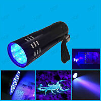 LED UV Torch Ultra Violet Black light Detect Body Fluids Urine Blood Semen etc