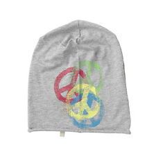 (M65) Leichte FREAKY HEADS Mütze rolling Jersey Beanie mit Peace und Logo Druck