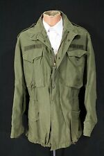 Vtg 1976 USA Army M-65 OG Field Coat Jacket Medium Reg #528 Post Vietnam War