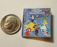 Miniature dollhouse Disney Princess book Barbie 1/12 Scale Snow White Mikey