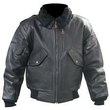 First Gear Hein Gericke Navigator Black Leather Jacket size Small 34-36