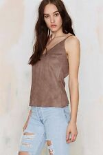 Glamorous By Nasty Gal Thinking Tank Microsuede Top Size M