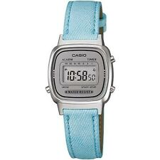 CASIO LADIES DIGITAL WATCH WITH SKY BLUE LEATHER STRAP LA670WL-2ADF