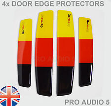 4x Germany Flag Colour Door Edge Protectors - Car Van Truck VW Audi GTI AMG - UK
