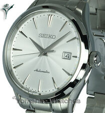 SEIKO SUPERIOR AUTOMATIC SATIN WHITE FACE WITH STAINLESS STEEL BRACELET SRP701J1