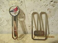 Vintage 24K Gold Plated Colortype Cardinal Bookmark And Alcoa Metal Bookmark