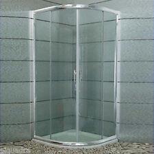 box doccia angolare semicircolare scorrevole 75x75 in cristallo 6 mm trasparente