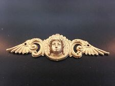 Medium base Head with Wings ornament for antique clocks