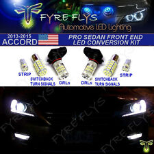 6 Piece Super Bright Xenon White Pro LED Package Sedan Front End Conversion Kit
