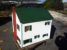LARGE VINTAGE DOLLHOUSE 2 STORY HAND MADE ENTIRELY of WOOD