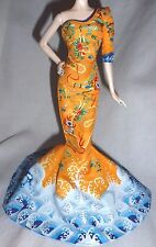 DRESS ~ BARBIE DOLL FAN BINGBING DRAGON PRINT MERMAID EVENING GOWN MODEL MUSE