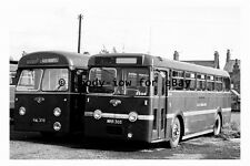 pt9121 - East Midland Buses YAL 375 & MRR 305 at Worksop in 1961 - photograph