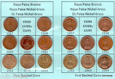 1957 - 1964 1 Paisa & 1 Naya Paisa, X Grade Collection Buy 1 Get 2 Set