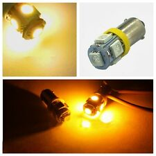 2x Yellow Super Bright T11 BA9S 5050 SMD 5 LED Car Light Bulb Lamp 12V New